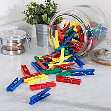Multi Colored Set of 200 Plastic Clothespins