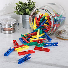 Honey Can Do Multi Colored Set of 200 Plastic Clothespins
