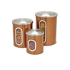 Honey Can Do 3-Pc. Copper Food Storage Canisters