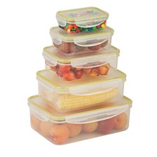 Honey Can Do Locking 10-Pc. Food Storage Set