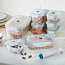 Vac N Save 17-Pc. Rectangular Food Storage Set