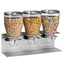 Zevro by Commercial Plus Triple Canister Cereal Dispenser