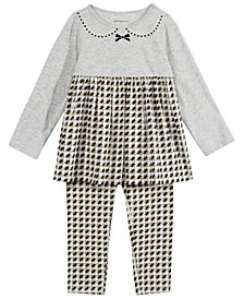 First Impressions Baby Girls Houndstooth Tunic & Leggings Separates, Created for Macy's