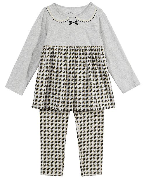 ca8f9636cb3ed2 First Impressions Baby Girls Houndstooth Tunic & Leggings Separates ...