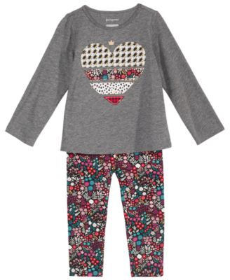eaeb94e64bdccf This item is part of the First Impressions Baby Girls Holiday with Love  Graphic Top & Printed Leggings Separates, Created for Macy's