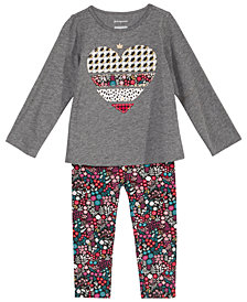 First Impressions Baby Girls Holiday with Love Graphic Top & Printed Leggings Separates, Created for Macy's