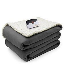 Electric Comfort Knit Fleece/Sherpa Twin Blanket