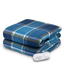Biddeford Heated Comfort Knit Fleece Throw