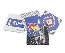 University of Kansas Spirit Coasters, Set of 4