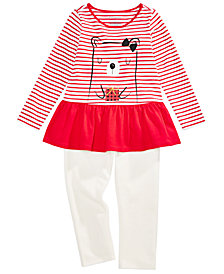 First Impressions Baby Girls Baby Bear Tunic & Leggings Separates, Created for Macy's
