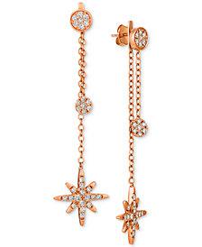 Le Vian® Nude™ Diamond Starburst Drop Earrings (1-1/5 ct. t.w.) in 14k Rose Gold