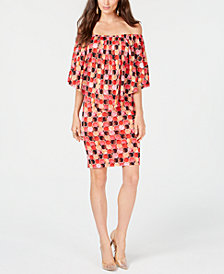 Thalia Sodi Printed Popover Dress, Created for Macy's