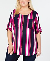 d04636bbcdc Plus Size Plaid   Flannel Shirts - Macy s