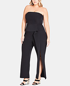 City Chic Trendy Plus Size Twister Jumpsuit