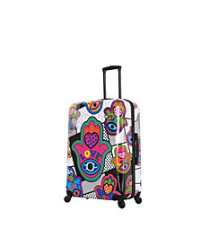 Mia Toro Italy Hamsa Love S Hard Side Spinner Luggage Carry-On