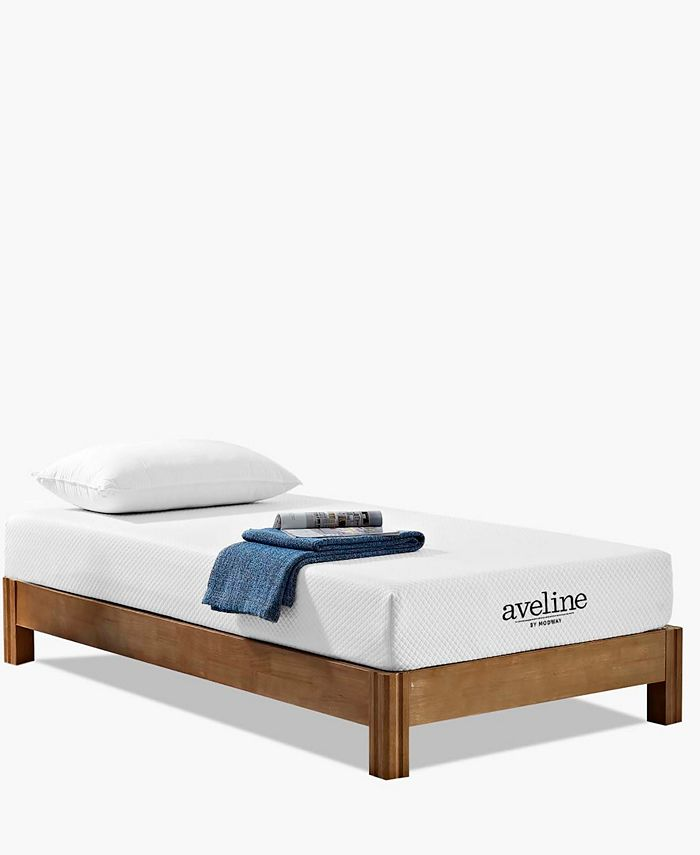 Modway - Ruthie King Fabric Platform Bed with Round Splayed Legs in Azure