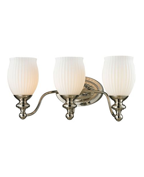 ELK Lighting Park Ridge Collection 3 Light Bath in Polished Nickel