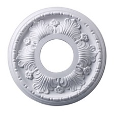 "Acanthus Medallion 11"" In White Finish"