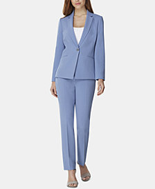 Tahari ASL One-Button Crepe Pantsuit