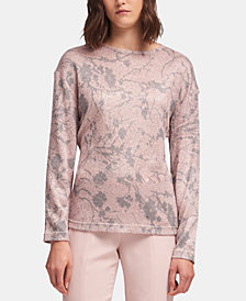 DKNY Floral-Print Top, Created for Macy's