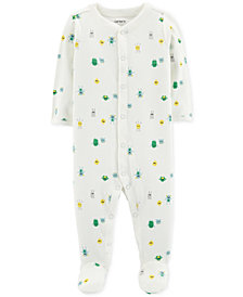 Carter's Baby Boys Monster Ribbed Footed Pajamas