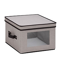 "Honey Can Do 12"" x 12"" Window Storage Box, Gray"