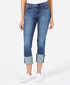 STS Blue Lucia High-Rise Wide-Cuff Jeans