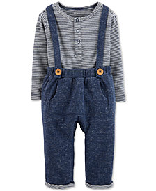 Carter's Baby Boys 2-Pc. Overalls & Bodysuit Set