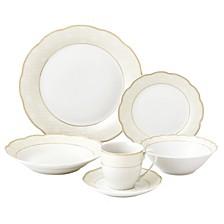 Tova Wavy 24-Pc. Dinnerware Set, Service for 4
