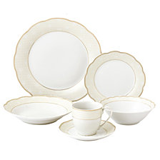 Lorren Home Trends Tova Wavy 24-Pc. Dinnerware Set, Service for 4