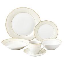 Lorren Home Trends Tova Wavy 24-Pc. Dinnerware Set, Service for 4