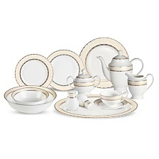 Lorren Home Trends Margaret  57-PC Dinnerware Set, Service for 8