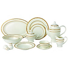 Lorren Home Trends Sonia 57-PC Dinnerware Set, Service for 8