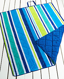 "Martha Stewart Collection Vacation Stripe 60"" x 72"" Beach Blanket, Created for Macy's"