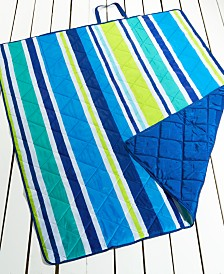 "CLOSEOUT! Martha Stewart Collection Vacation Stripe 60"" x 72"" Beach Blanket, Created for Macy's"