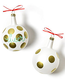 Coton Colors Christmas Spirits Cheer Vintage Glass Ornament