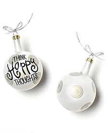 Coton Colors Think Happy Thoughts 80Mm Glass Ornament