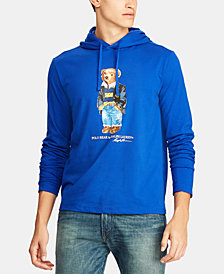 Polo Ralph Lauren Men's Polo Bear Hooded Long-Sleeve T-Shirt, Created for Macy's