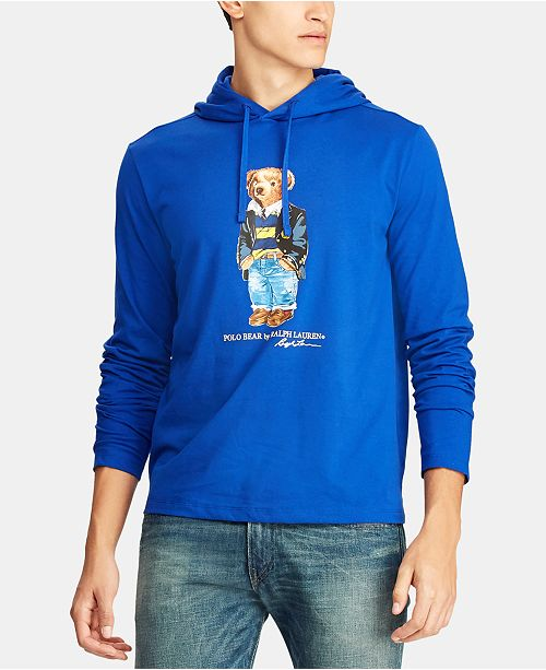 117a39a8 ... Polo Ralph Lauren Men's Polo Bear Hooded Long-Sleeve T-Shirt, Created  for ...