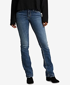 Elyse Slim-Leg Bootcut Jeans