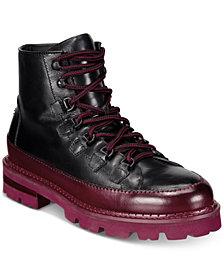 Roberto Cavalli Men's Chunk Heel Lace-Up Boots