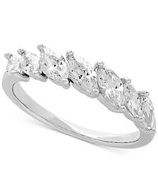 Cubic Zirconia Marquise Ring in Sterling Silver