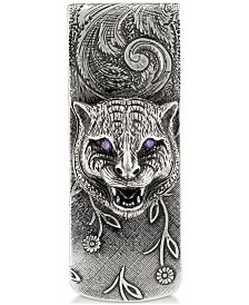 Gucci Men's Cubic Zirconia Big Cat Money Clip in Sterling Silver