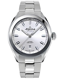 Men's Swiss Alpiner Stainless Steel Bracelet Watch 42mm