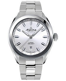 Alpina Men's Swiss Alpiner Stainless Steel Bracelet Watch 42mm