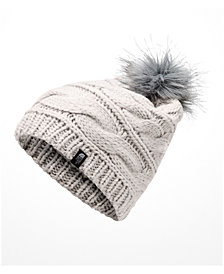 The North Face Triple Cable Pom Pom Hat