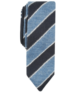 Edwardian Men's Fashion & Clothing Original Penguin Mens MacDonald Skinny Stripe Knit Tie $55.00 AT vintagedancer.com
