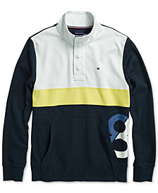 Tommy Hilfiger Adaptive Men's Portofino Mock Neck Sweatshirt with Magnetic Closure