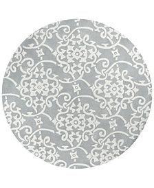 Surya Cosmopolitan COS-8828 Medium Gray 8' Round Area Rug