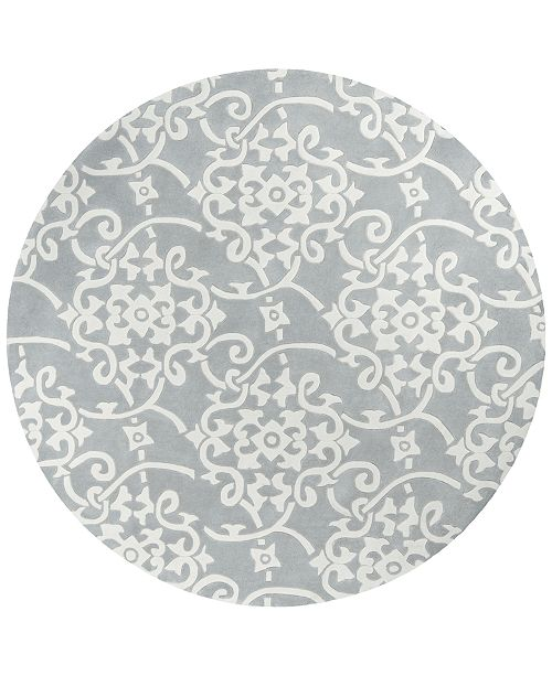 Surya Cosmopolitan COS-8828 Medium Gray 8' Round Area Rug